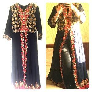 Indian Silk Kaftan Dress